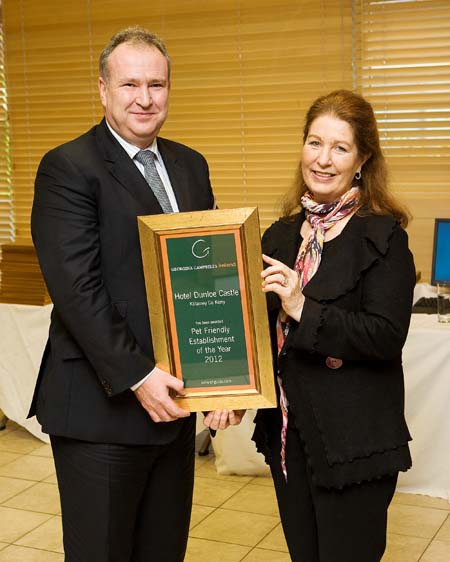 Pet Friendly Hotel of the Year 2012 - Hotel Dunloe Castle - Killarney County Kerry ireland