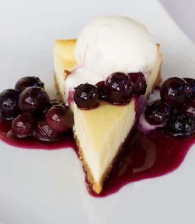 Baked Derryvilla Farm Blueberry Cheesecake