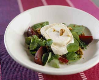 Beetroot, Goats Cheese and Walnut Salad