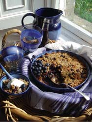 Blueberry Crisp Rice Cobbler