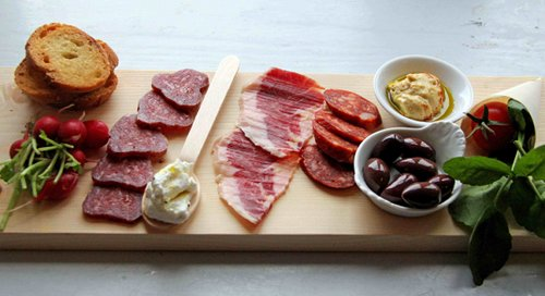 A Plate of McGeough?s Cured Meats & Horseradish Cr?me Fraiche