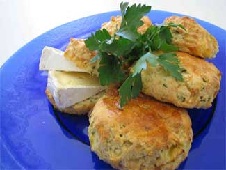 Camembert, Apple & Chive Scones