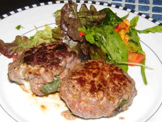 Home made beef burgers