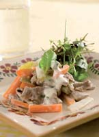 Warm Lamb Salad with Yoghurt and Fresh Mint Dressing