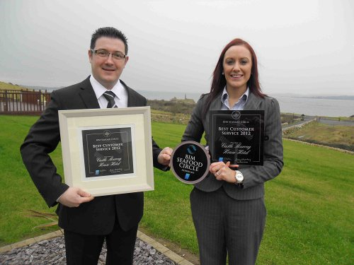 Fabrice Maitre D & Kelly McCrudden of Castle Murray House Hotel