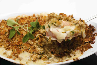 Fish Pie with Oat Topping