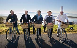 ndrew Pelham Byrne, Carrowholly Cheese;  Dermot Madigan, general manager, Mulranny Park Hotel; Michael Flanagan, Achill Island Turbot;  Sean Kelly, Kelly's Butchers, Newport; Ollie O'Regan, head chef, Mulranny Park Hotel - Gourmet Greenway Mayo Ireland
