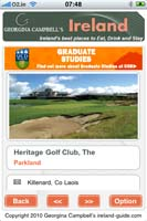 iPhone App for Georgina Campbell Guide Ireland
