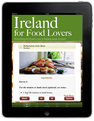 Ireland for Food Lovers app - recipe
