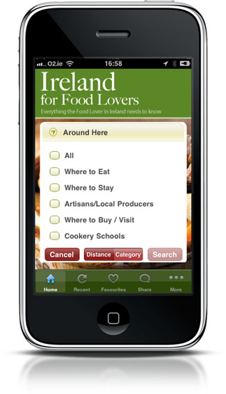 Ireland for Food Lovers app - Around Here