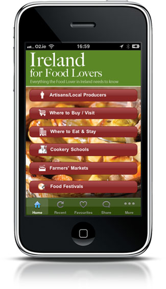 Ireland for Food Lovers app - search