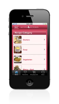 Kevin Dundon App - Recipe Categories