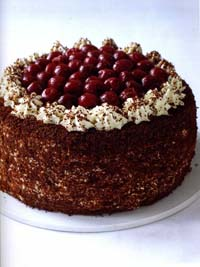 Black Forest Gateau from MasterChef KITCHEN BIBLE, Everything you need to know to become a MasterChef in your own kitchen (Dorling Kindersley hardback, ?26/?30)