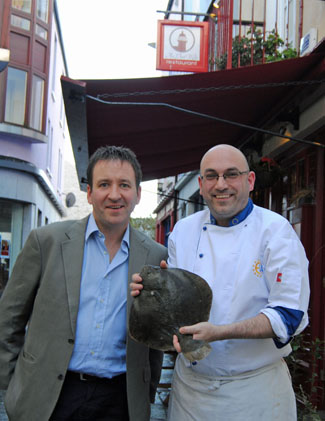 Michael Flanagan, Achill Island Turbot and Frankie Mallon, An Port Mor Restaurant, Westport, Co Mayo, ireland