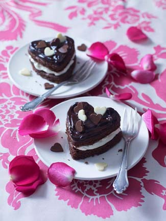 Mini Amaretto Chocolate Hearts