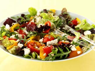 Roasted Red Pepper and Goats Cheese Salad
