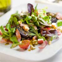 Rudd's Warm Bacon Salad with Black Pudding & Mustard Dressing