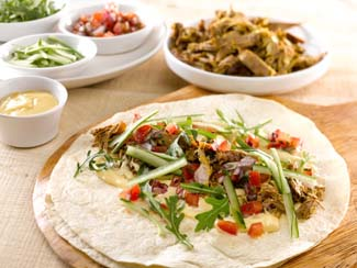 Lamb Wraps with Garlic Aoili & Tomato Salsa
