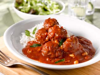Spiced Meatballs with Chilli Tomato Sauce