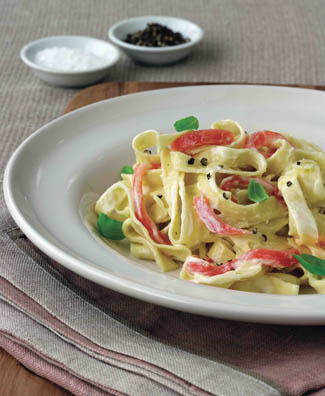 Smoked Salmon Tagliatelle with Parmesan Cream