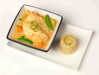 Easy Red Thai Fish Curry