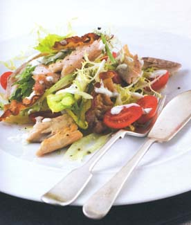 Smoked Eel and Pancetta Salad