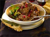 Beef Casserole with Cranberries and Port