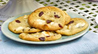 Macadamia and Cranberry Cookies