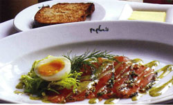 Gravadlax with Dill Mustard Sauce from Zest Cookbook (Peploe's Restaurant)