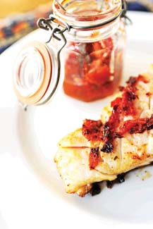 Hake Seared in a Sun-dried Tomato Tapenade by Clodagh McKenna