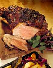Recipe for Roasted Leg of Lamb with Mustard & Rosemary