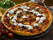 Lamb Pizza with Yoghurt and Mint