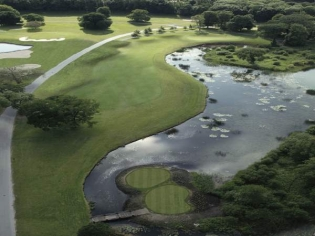 Aerial view of the 10th hole