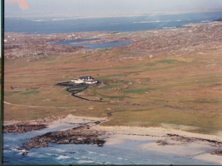 An aerial view of the clubhouse